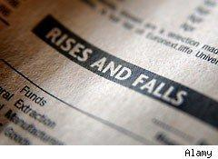 Rises and Falls - double dip recession