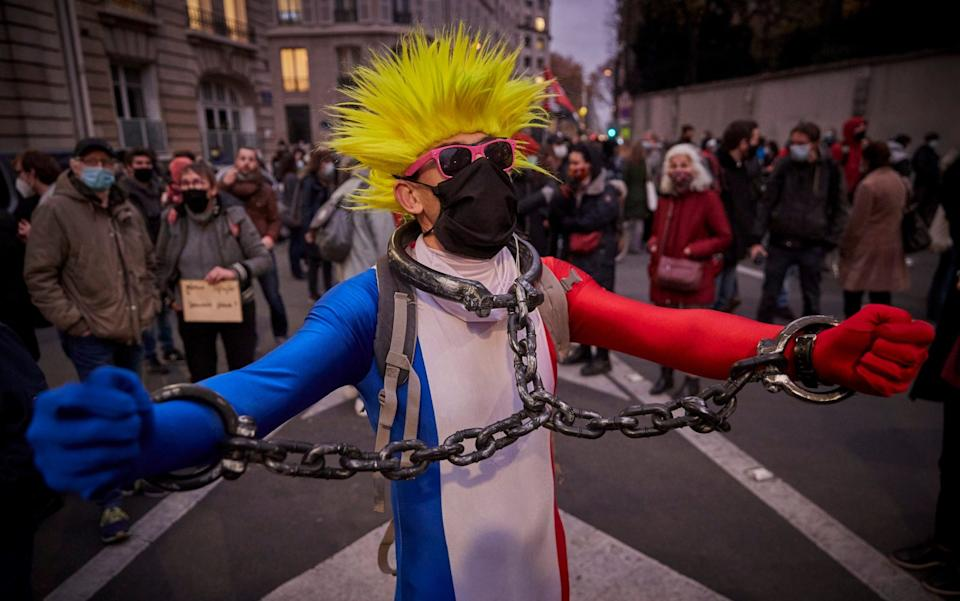 Protesters say Macron's new security bill endangers human rights - GETTY IMAGES