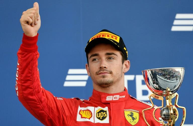 Ferrari's Charles Leclerc put a brave face on his third place in Russia but victory ought to have been his (AFP Photo/Dimitar DILKOFF)