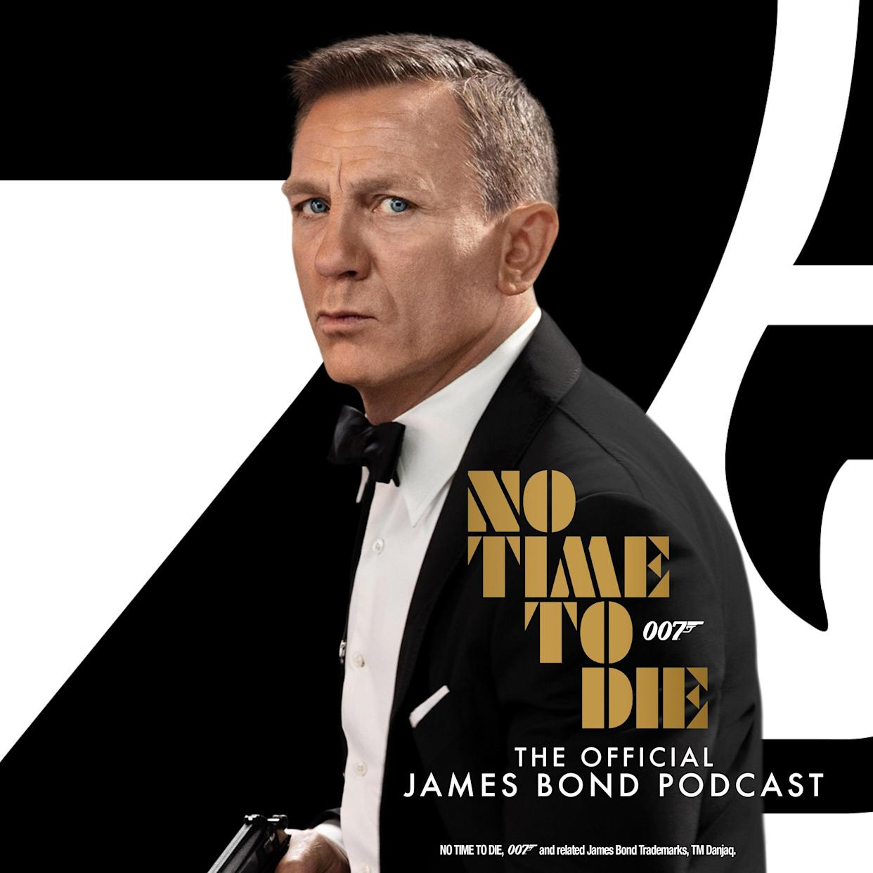 No Time To Die: The Official James Bond Podcast is produced by Somethin' Else in association with Metro Goldwyn Mayer (MGM), Universal Pictures International, United Artists Releasing and EON Productions.