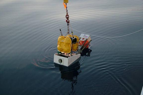 Ocean-bottom seismometers, like the one depicted here, can help researchers keep track of earthquakes felt on the seafloor.