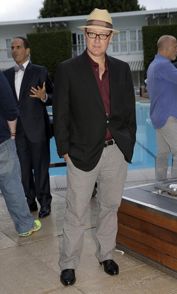 "James Spader (""The Blacklist"") at the NBC Cocktail Reception during the 2013 Summer Television Critics Association tour."