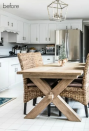 <p>Instead of a full-on overhaul, this kitchen is a great example of a few simple touches making a huge difference. </p>