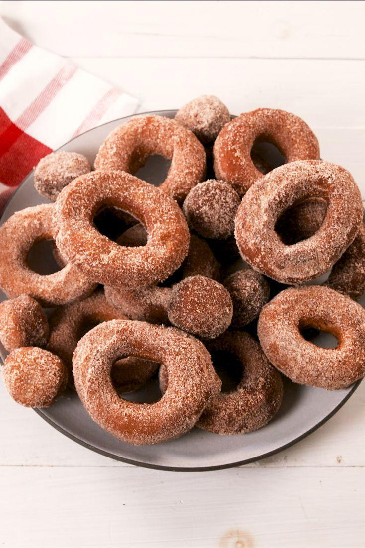 """<p>Unlike our <a href=""""https://www.delish.com/cooking/recipe-ideas/a24788319/how-to-make-donuts-at-home/"""" rel=""""nofollow noopener"""" target=""""_blank"""" data-ylk=""""slk:classic glazed donuts"""" class=""""link rapid-noclick-resp"""">classic glazed donuts</a>, this recipe doesn't involve any yeast. </p><p>Get the recipe from <a href=""""https://www.delish.com/cooking/recipe-ideas/a29131601/apple-cider-donuts-recipe/"""" rel=""""nofollow noopener"""" target=""""_blank"""" data-ylk=""""slk:Delish"""" class=""""link rapid-noclick-resp"""">Delish</a>.</p>"""