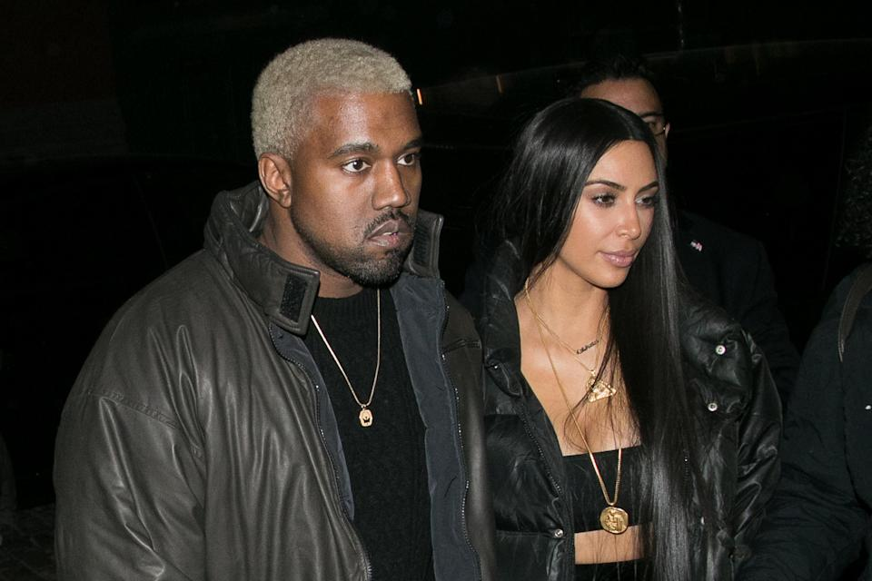 Kanye West and Kim Kardashian's family has grown. (Photo: Getty Images)