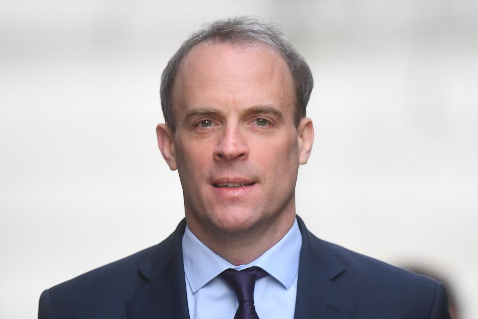 File photo dated 08/04/20 of Foreign Secretary Dominic Raab who has urged the Chinese authorities to change course over Hong Kong and �reach out and start to heal divisions�.
