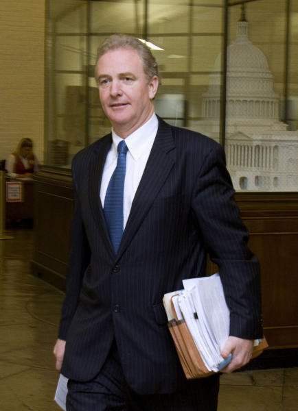 FILE - In this Nov. 17, 2011 file photo, Rep. Chris Van Hollen, D-Md., walks through the basement of the House Cannon Office Building on Capitol Hill in Washington. Republicans are revamping their strategy against President Barack Obama's health care law: If they can't repeal the whole thing, they'll try to pick off pieces. Starting with a new and unfamiliar bureaucracy. (AP Photo/Harry Hamburg, File)