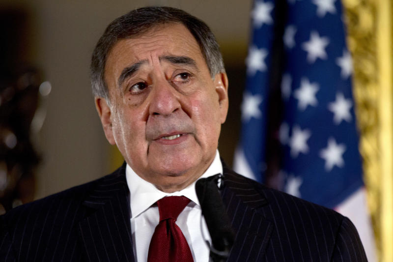 """U.S. Defense Secretary Leon Panetta speaks to the media during a news conference with the Secretary of State for Defense Philip Hammond, not pictured, at Lancaster House in London on Saturday, Jan. 19, 2013. Britain's defense minister says it appears the hostage situation in Algeria has come to an end and resulted in further loss of life. Philip Hammond calls the loss of life appalling and unacceptable. He says """"it is the terrorists that bear the sole responsibility for it."""" Hammond spoke at the start of a news conference with U.S. Defense Secretary Leon Panetta. (AP Photo/Jacquelyn Martin)"""
