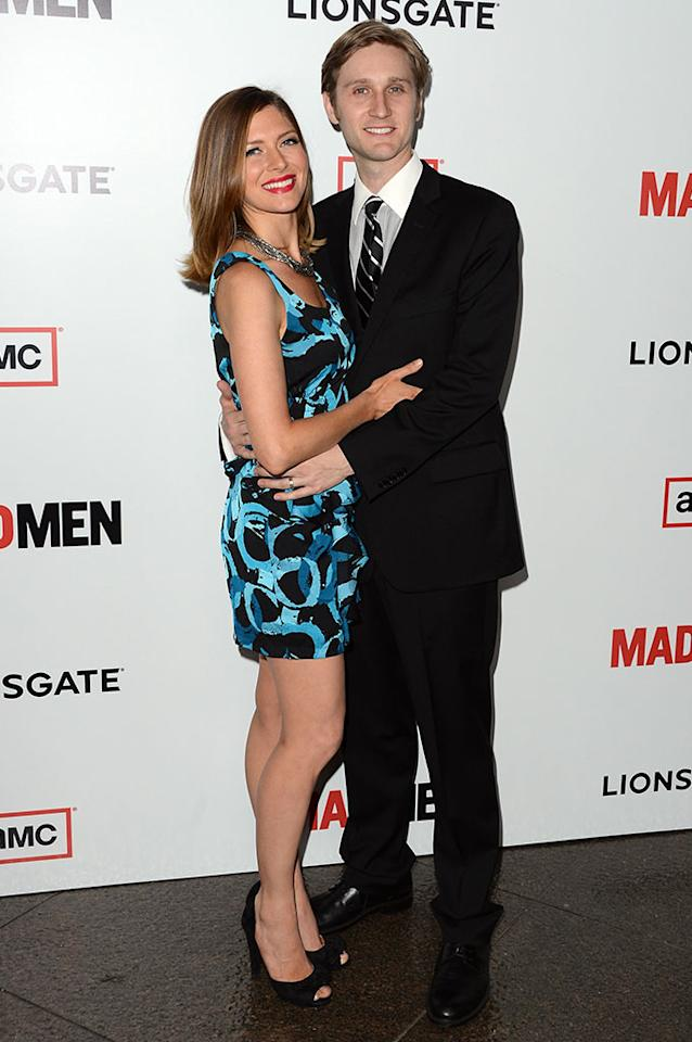 "Aaron Staton and Connie Fletcher arrive at the Premiere of AMC's ""Mad Men"" Season 6 at DGA Theater on March 20, 2013 in Los Angeles, California."