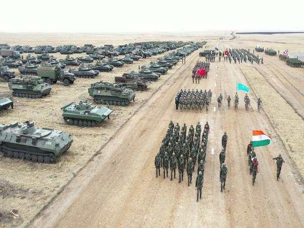 The joint training exercise involving armed forces of all SCO member states.