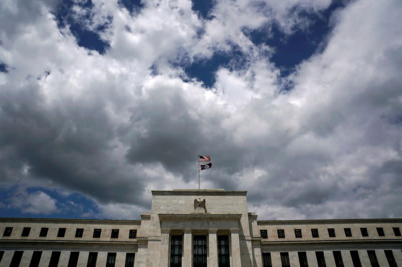 Clouds over the Federal Reserve in Washington