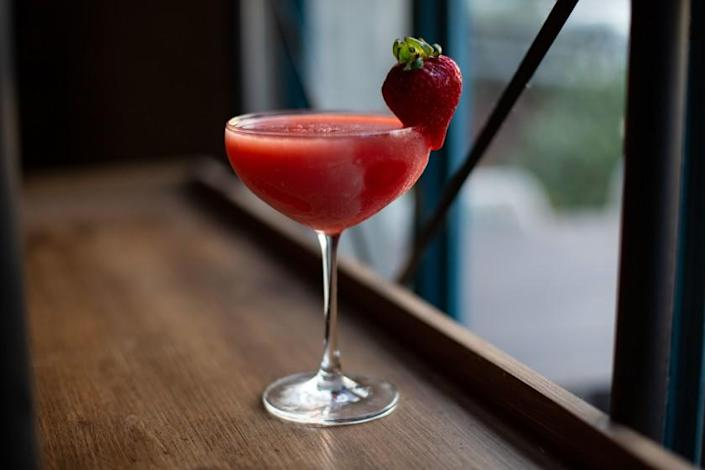 """The F.A.D.E.D. cocktail at the Rose in Venice is available to take away. <span class=""""copyright"""">(Jason Armond / Los Angeles Times)</span>"""