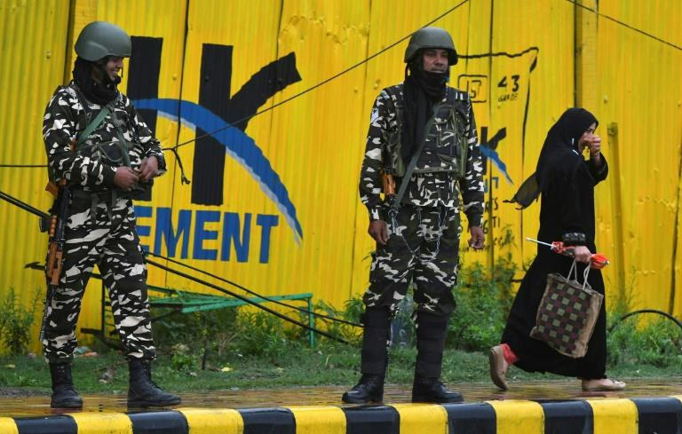 India on August 5 ended the special constitutional status of Muslim-majority Kashmir (AFP Photo/PUNIT PARANJPE)