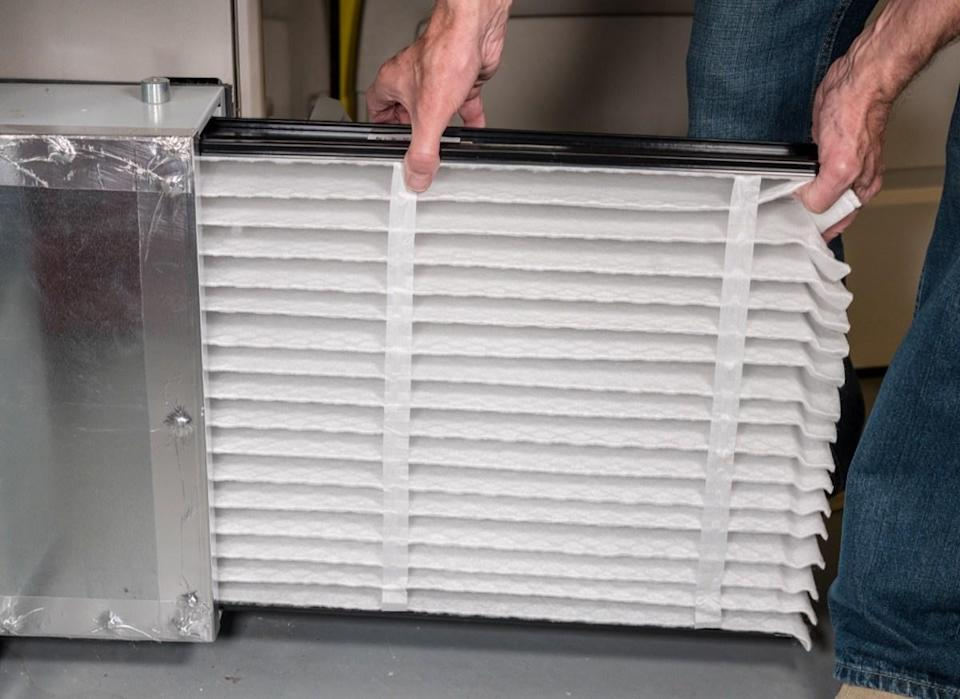 """Failing to replace your HVAC filters frequently enough can cause problems down the road that extend beyond a time-consuming cleaning job. """"A dirty or clogged filter will impact efficiency and could even cause damage to your system,"""" says Dawson. According to the expert, you should change your HVAC filters every one to three months, and more frequently if you smoke indoors or have pets."""