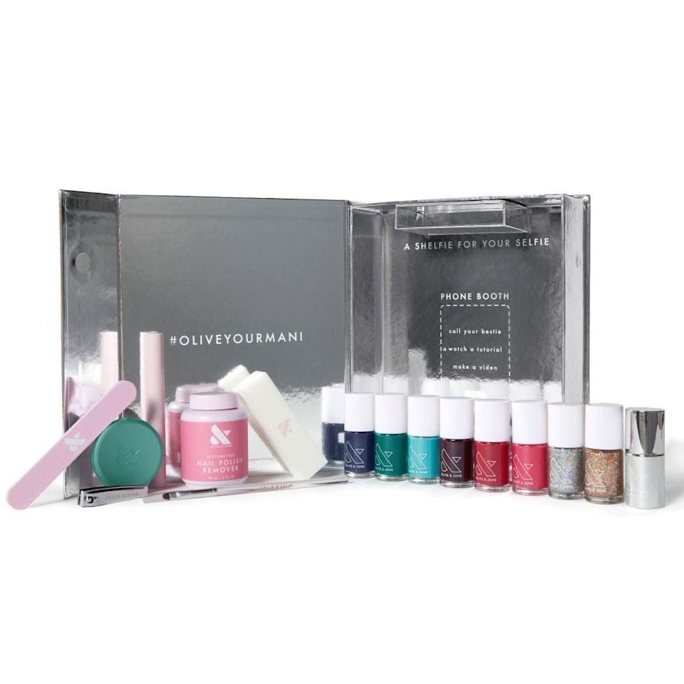 <p>Give them everything they need for a salon-quality, at-home manicure in this <span>Olive & June The Winter Box</span> ($94).</p>