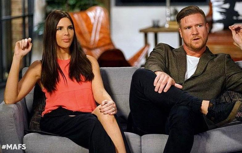 Tracey Jewel was understandably shocked during Sunday night's Married At First Sight episode, as TV husband Dean confessed to cheating on her with fellow contestant Davina. Source: Channel Nine