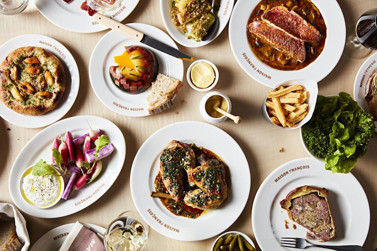"""<p>If you like your oeufs done a certain way and your pâté to pack a punch, then this new all-day brasserie in St James's is the place for you and your dashed holiday dreams.</p><p>Inspired by the dining scene in Paris, Lyon and Alsace, you can expect hearty terrines, perfectly cooked beef steak with peppercorn sauce and of course, ratatouille. Save room for the dessert trolley, which features classics including crème caramel and chocolate eclairs.</p><p>There's also an in-house bakery serving up crusty French loaves and downstairs you'll find Frank's, a separate wine bar with a 250-strong list and some serious charcuterie.</p><p>You might recognise head chef, Matthew Ryle too: he was a finalist on MasterChef a couple of years ago. Ooh la la! </p><p>Location: 34 Duke Street, St James's SW1Y 6DF</p><p>Click <a href=""""https://www.maisonfrancois.london/"""" target=""""_blank"""">here</a> for more information.</p>"""