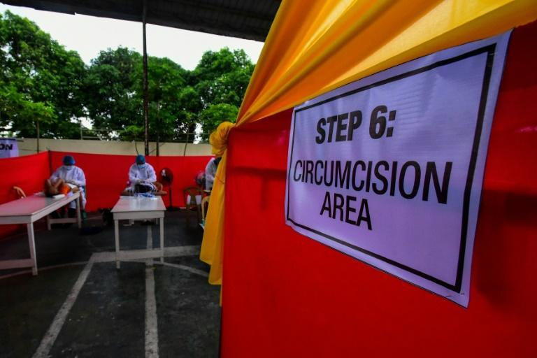 """Last year, """"circumcision season"""" in the Philippines was cancelled for the first time in living memory due to the pandemic (AFP/Maria Tan)"""