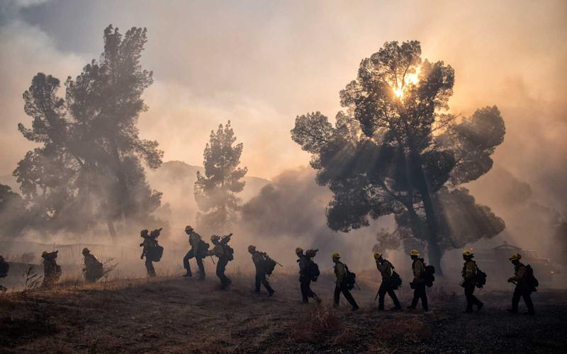 The Tick Fire burns in Canyon Country, Thursday, October 24, 2019. | Hans Gutknecht/MediaNews Group/Los Angeles Daily News via Getty Images