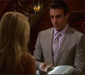 Charmer Tony actually presented Emily with a glass slipper.