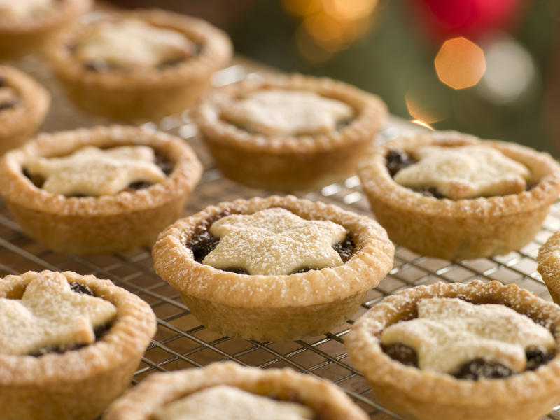 Close Up Of Mince Pies on a Cooling Rack