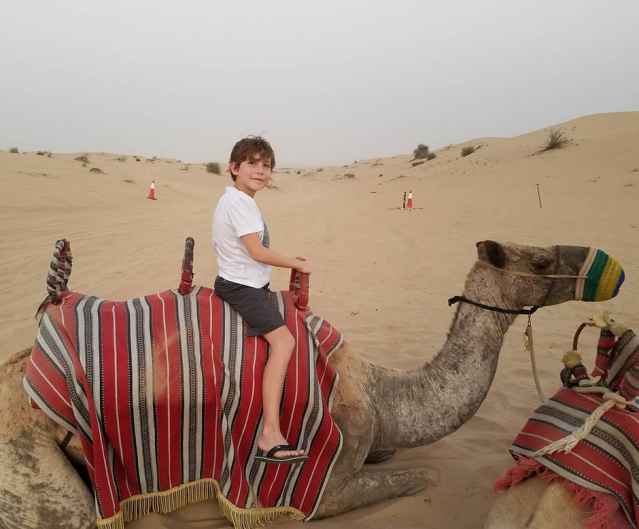 "<p>""Happy#Thanksgiving Canada!"" the 11-year-old <em>Room</em> star wished the people of his homeland, along with a picture of himself on a camel. ""Eat some turkey for me!"" (Photo: <a href=""https://www.instagram.com/p/BaDquR5DWX-/?taken-by=jacobtremblay"" rel=""nofollow noopener"" target=""_blank"" data-ylk=""slk:Jacob Tremblay via Instagram"" class=""link rapid-noclick-resp"">Jacob Tremblay via Instagram</a>) </p>"