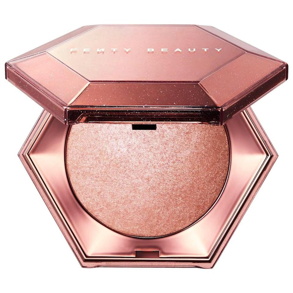 <p>Glow all over with the stunning <span>Fenty Beauty Diamond Bomb All-Over Diamond Veil</span> ($39).</p>