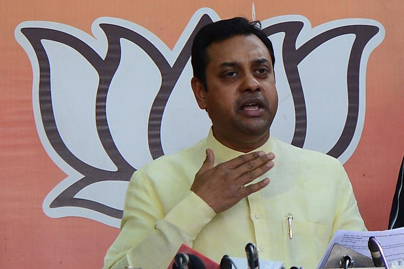 NEW DELHI,INDIA APRIL 22: BJP leader Sambit Patra during a press conference at BJP headquarter in New Delhi.(Photo by Praveen Negi/The India Today Group via Getty Images)