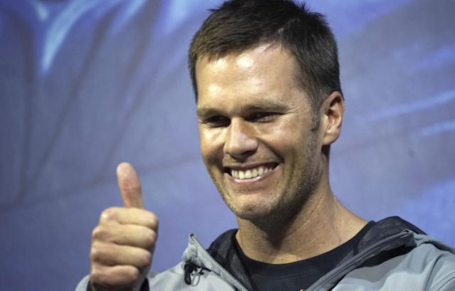 "Wonder what advice today's <a class=""link rapid-noclick-resp"" href=""/nfl/players/5228/"" data-ylk=""slk:Tom Brady"">Tom Brady</a> would have for his younger self. (AP)"