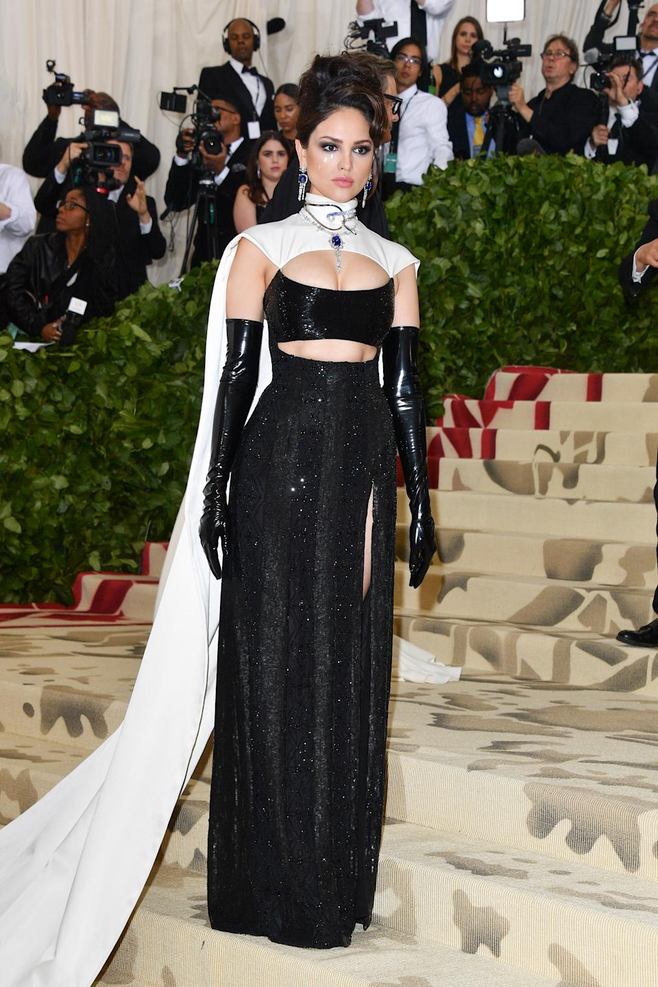 NEW YORK, NY - MAY 07:  Eiza Gonzalez attends the Heavenly Bodies: Fashion & The Catholic Imagination Costume Institute Gala at Metropolitan Museum of Art on May 7, 2018 in New York City.  (Photo by George Pimentel/Getty Images)