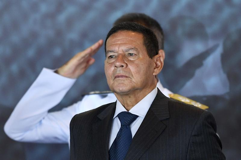 Brazil is ready to take in more refugees from Venezuela if the situation deteriorates, Vice President Hamilton Mourao says (AFP Photo/EVARISTO SA)