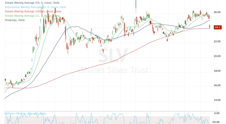 Top stock trades for SLV