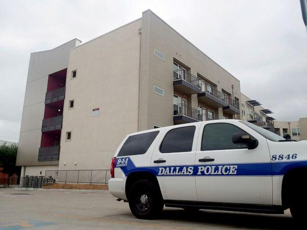PHOTO: A Dallas Police vehicle is parked near the South Side Flats apartments, Sept. 10 2018, in Dallas. (Ryan Tarinelli/AP, FILE)