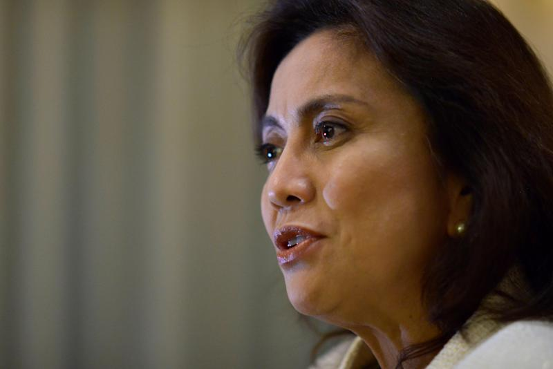Philippine Vice President Leni Robredo speaks during a Reuters interview, at the Quezon City Reception House, Metro Manila, Philippines. (Photo: REUTERS/Ezra Acayan)