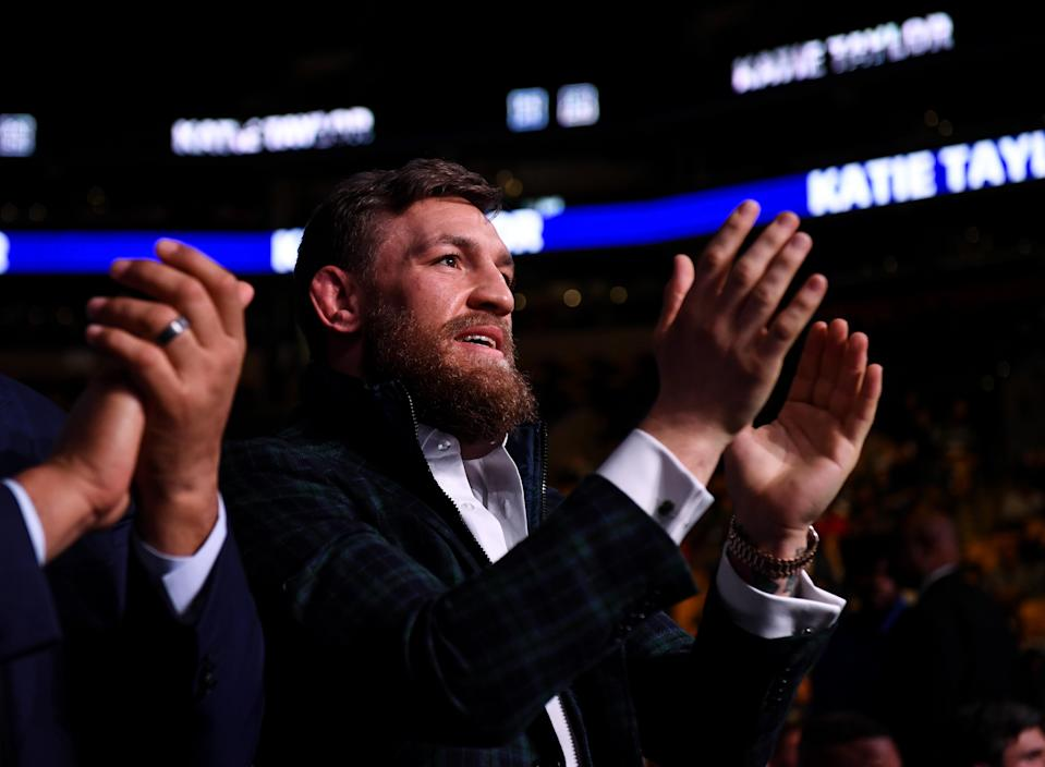 Conor McGregor brought Boston firefighters tickets to see the Red Sox in the World Series. (Photo By Stephen McCarthy/Sportsfile via Getty Images)
