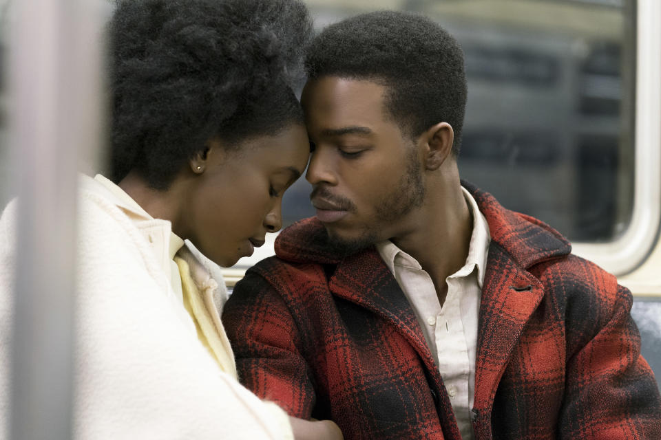 KiKi Layne (Tish) and Stephan James (Fonny) are a struggling couple in the movie (Credit: Annapurna Pictures)