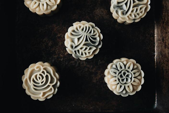 Zhu has been experimenting with different mooncake recipes in her home kitchen. (Courtesy Maggie Zhu)