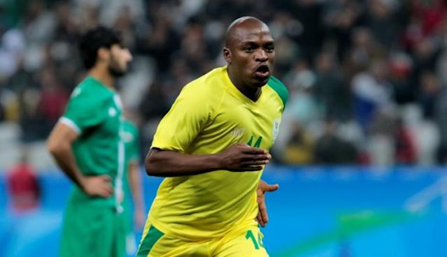 Bidvest Wits forward Gift Motupa scored for South Africa at the 2016 Rio Olympic Games (AFP Photo/Miguel SCHINCARIOL)