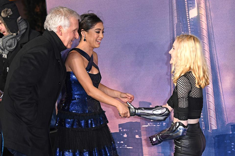 Hollywood director James Cameron catches up with Tilly at the recent premiere event. Photo: Getty