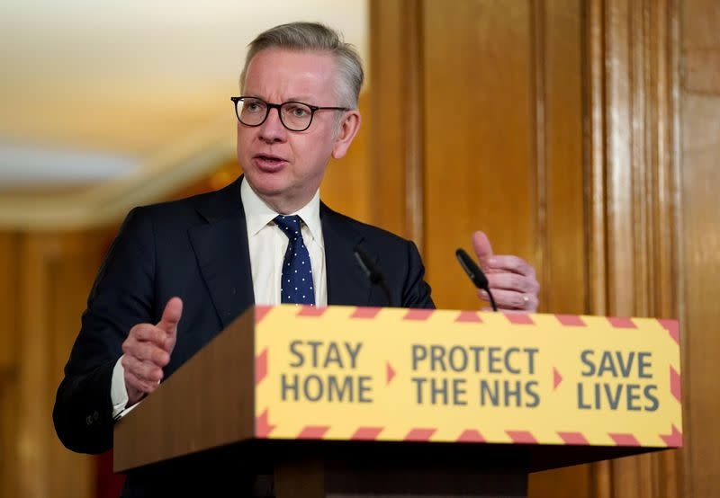 UK minister Gove is self isolating as family member has COVID-19 symptoms