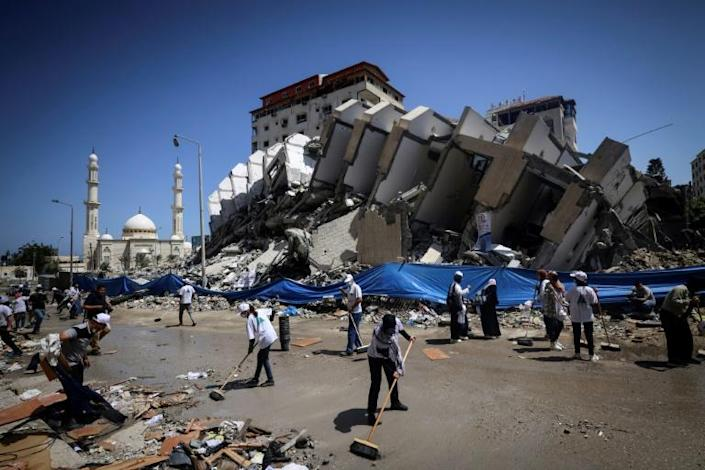 US top diplomat Antony Blinken vowed support to help rebuild the battered Gaza Strip and shore up a truce between Hamas and Israel, but insisted the territory's Islamist militant rulers would not benefit from any aid