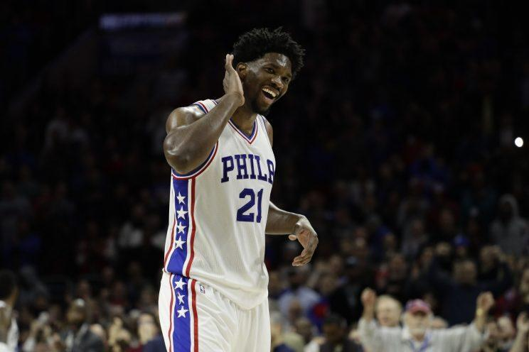 Joel Embiid and the Sixers have heard a lot of cheers lately. (AP)