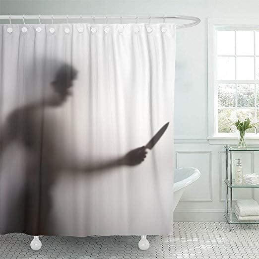 """<p>You'll need to sleep with all the lights on if you use this <a href=""""https://www.popsugar.com/buy/Killer-Knife-Shower-Curtain-480086?p_name=Killer%20With%20Knife%20Shower%20Curtain&retailer=amazon.com&pid=480086&price=20&evar1=casa%3Aus&evar9=46496135&evar98=https%3A%2F%2Fwww.popsugar.com%2Fphoto-gallery%2F46496135%2Fimage%2F46500079%2FKiller-With-Knife-Shower-Curtain&list1=halloween%2Cshowers%2Cbathrooms&prop13=api&pdata=1"""" rel=""""nofollow"""" data-shoppable-link=""""1"""" target=""""_blank"""" class=""""ga-track"""" data-ga-category=""""Related"""" data-ga-label=""""https://www.amazon.com/Emvency-Stabbing-Abstract-Waterproof-Decorative/dp/B07G7CLNJ1/ref=asc_df_B07G7CLNJ1/?tag=hyprod-20&amp;linkCode=df0&amp;hvadid=366282009309&amp;hvpos=1o1&amp;hvnetw=g&amp;hvrand=6134854135965010467&amp;hvpone=&amp;hvptwo=&amp;hvqmt=&amp;hvdev=c&amp;hvdvcmdl=&amp;hvlocint=&amp;hvlocphy=1016367&amp;hvtargid=pla-792616809058&amp;psc=1&amp;tag=&amp;ref=&amp;adgrpid=84691875028&amp;hvpone=&amp;hvptwo=&amp;hvadid=366282009309&amp;hvpos=1o1&amp;hvnetw=g&amp;hvrand=6134854135965010467&amp;hvqmt=&amp;hvdev=c&amp;hvdvcmdl=&amp;hvlocint=&amp;hvlocphy=1016367&amp;hvtargid=pla-792616809058"""" data-ga-action=""""In-Line Links"""">Killer With Knife Shower Curtain</a> ($20) during the <a class=""""sugar-inline-link ga-track"""" title=""""Latest photos and news for Halloween"""" href=""""https://www.popsugar.com/Halloween"""" target=""""_blank"""" data-ga-category=""""Related"""" data-ga-label=""""https://www.popsugar.com/Halloween"""" data-ga-action=""""&lt;-related-&gt; Links"""">Halloween</a> season.</p>"""