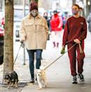 <p><i>Riverdale</i> costars Lili Reinhart and Madelaine Petsch take their furry friends for a walk on Sunday in Vancouver, Canada. </p>