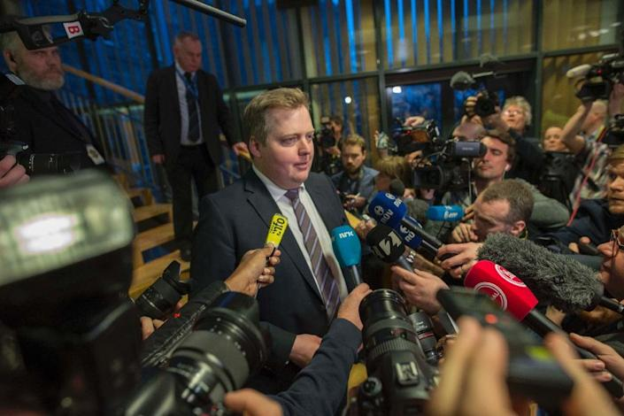 Iceland's former Prime Minister Sigmundur David Gunnlaugsson was the first major political casualty to emerge from the leak of the so-called Panama Papers financial documents (AFP Photo/HALLDOR KOLBEINS)