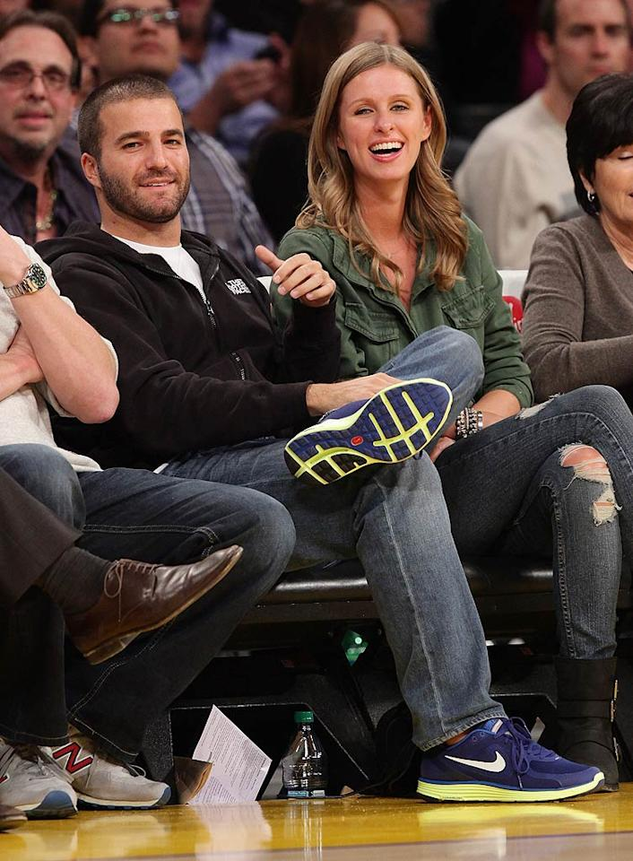 "So did Nicky Hilton and her main squeeze David Katzenberg, who always make good use of the season tickets that belong to David's dad, Dreamworks CEO Jeffrey Katzenberg. Do you think the hotel heiress is <i>really</i> a b-ball fan? Noel Vasquez/<a href=""http://www.gettyimages.com/"" target=""new"">GettyImages.com</a> - January 25, 2011"