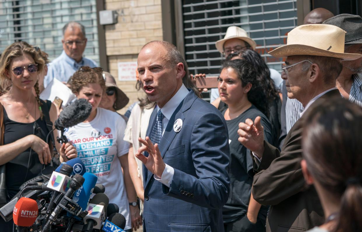 Michael Avenatti speaks during a news conference. (Photo: Don Emmert/AFP)
