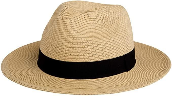 <p>When the sun is out, the <span>Pineapple&amp;Star Sun Straw Fedora Beach Hat Fine Braid UPF50+</span> ($35) is a must have.</p>