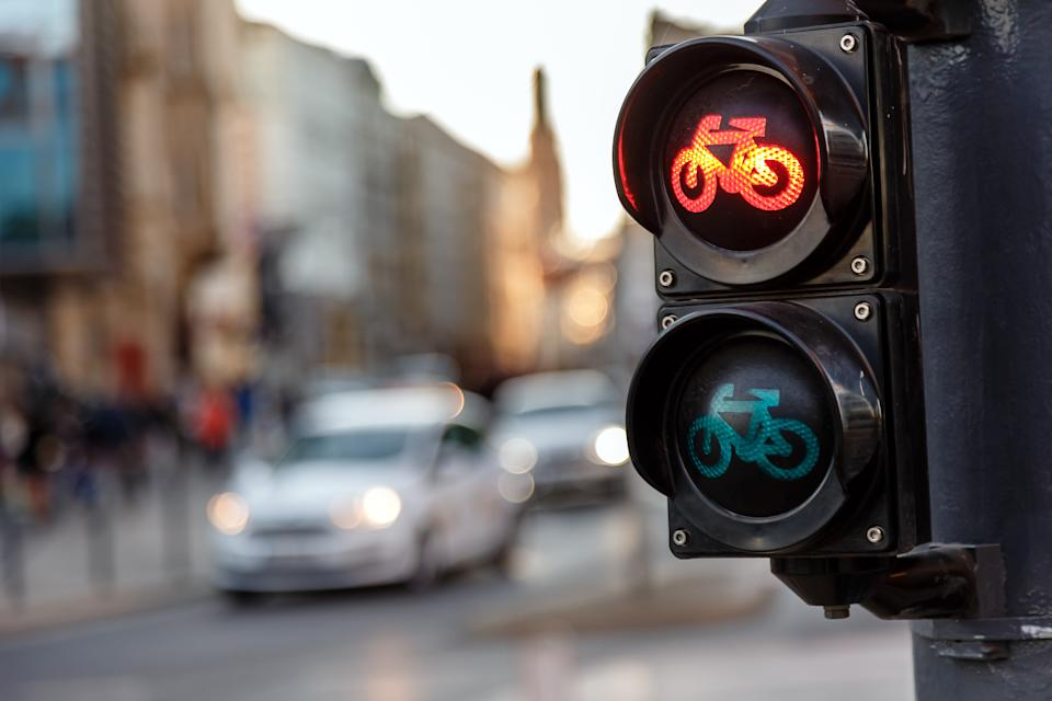 Red bicycle light on roads. Source: Getty Images