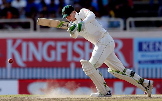 <span>Peter Handscomb also fended off India</span> <span>Credit: AP </span>